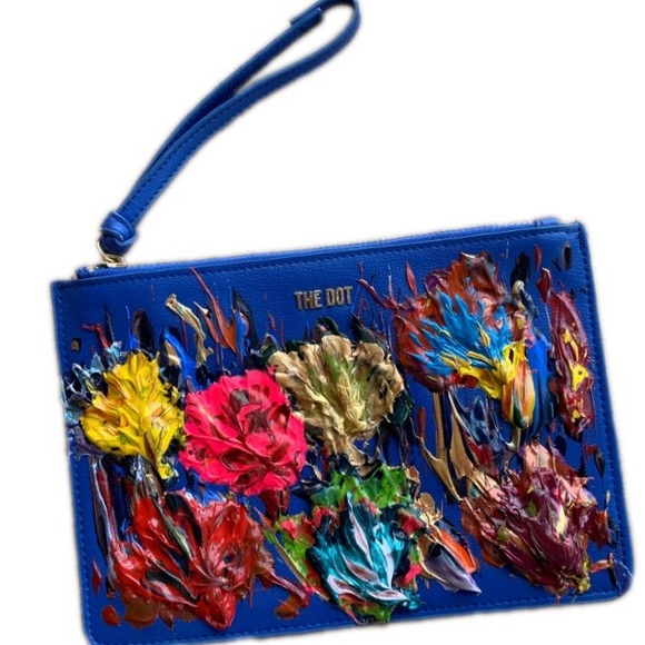 The Dot Handbags - The Dot brand large clutch/wristlet, painted front